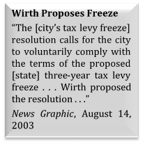 Tax Freeze