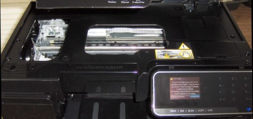 HP Officejet 8500A Premium scanner assembly open
