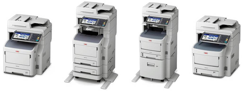 A4 color LED-based OKI MFP MC700 Series