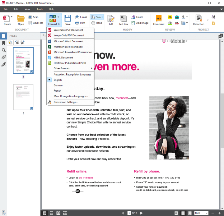 Brother ImageCenter ADS-3000N PDF Transformer+ (2)