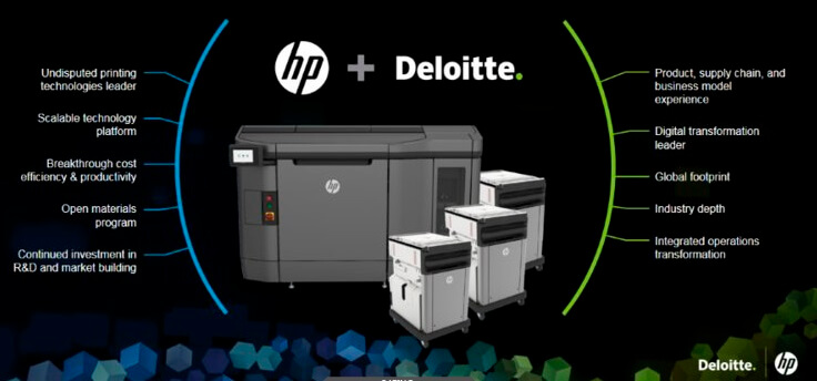 HP Partners with Deloitte to Bring 3D Printing to $12