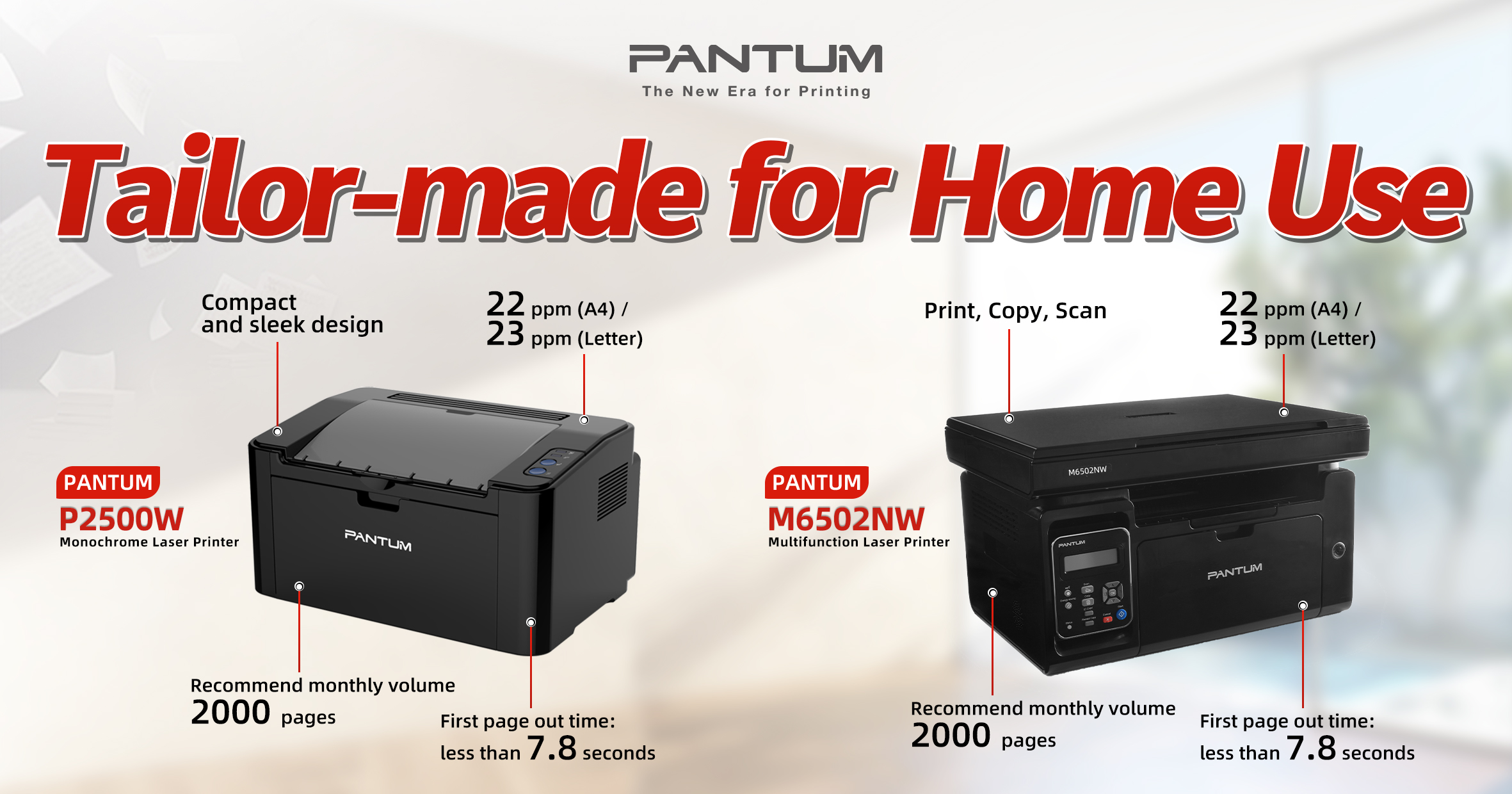 New Pantum Home Models with Refillable Toner Cartridges – Wirth ...