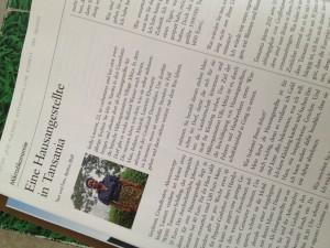 Stella Laurent, Hausmädchen bei Village Africa, im Interview für Brand Eins.