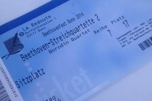 Eintrittskarte fürs Borodin Quartet