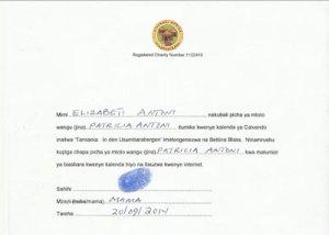 Model Release mit Unterschrift