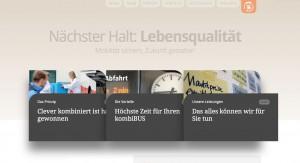 Screenshot Homepage Kombibus