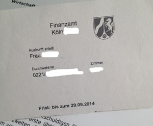 Post vom Finanzamt