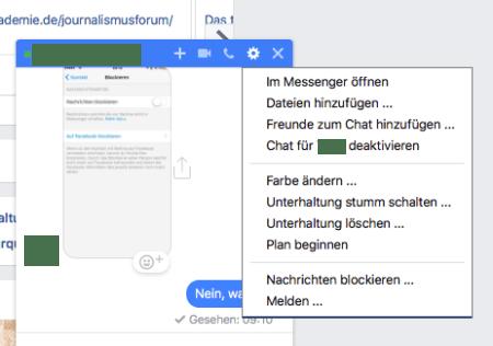 So kann man aus dem Messenger heraus blockieren