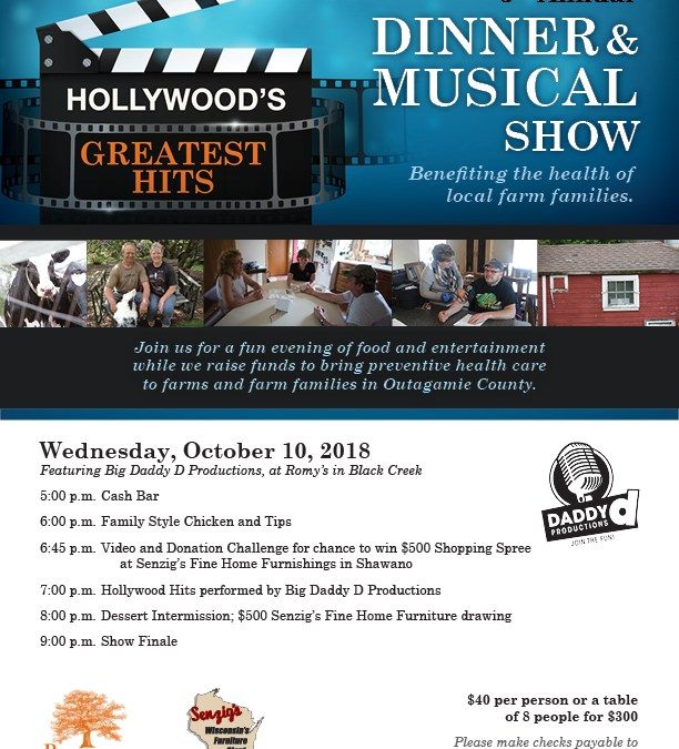 Hollywood's Greatest Hits Dinner Show (Black Creek, WI)