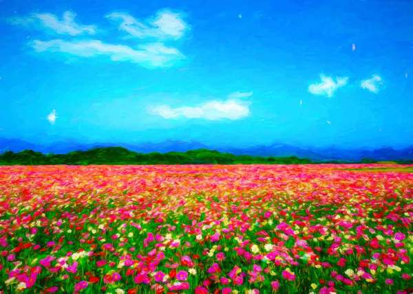 spring paintings in 4 seasons landscapes