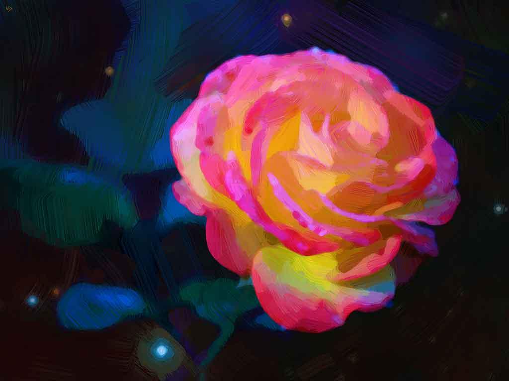 Painting Roses in bloom
