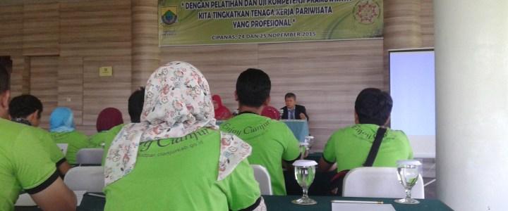 Pelatihan Kepemanduan Ekowisata & Sertifikasi Pramuwisata Disbudpar Kab. Cianjur 2015
