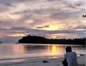 sunset pulau pahawang, pulau pahawang lampung selatan