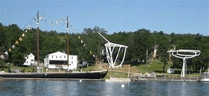 Maine Maritime Museum in Bath Maine. Great way to learn the history of boat building in Maine. 9 miles from Wiscasset Woods Lodge