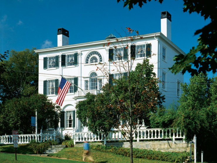Picture of Nickels-Sortwell house. One of several historic sites in Wiscasset Village. 3 miles from Wiscasset Woods Lodge