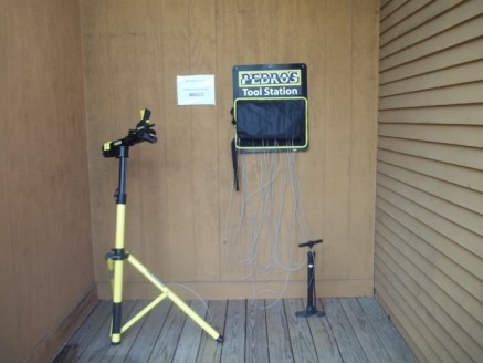 Bicycle Repair stand and tool kit donated by Pedros