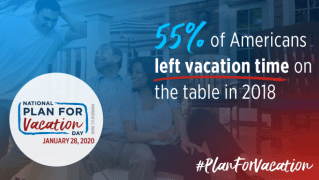 55% of Americans left vacation time on the table in 2018