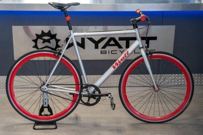 Wyatt bicycles single speed in office