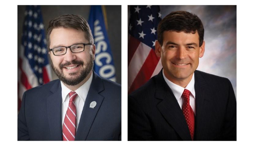 Rep. Evan Goyke, D-Milwaukee (left), Rep. Tony Kurtz, R-Wonewoc (right)