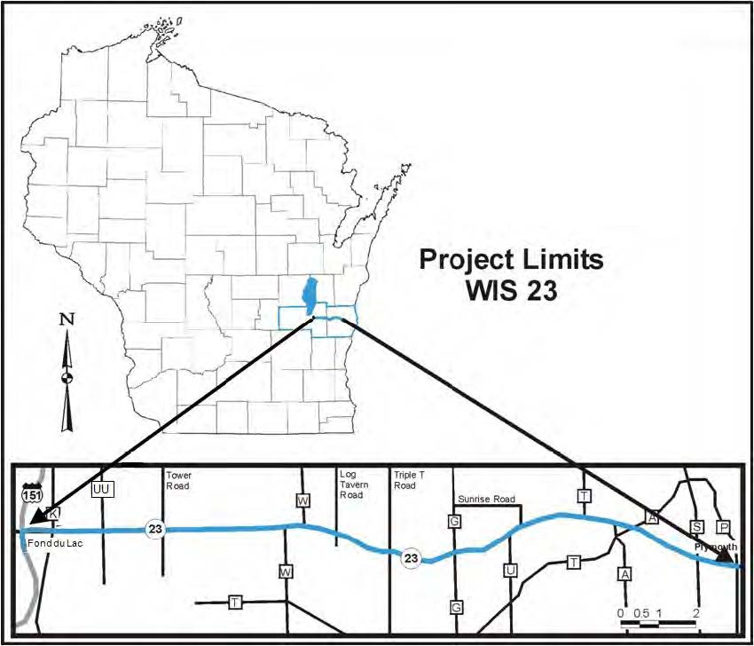 Wisconsin Department of Transportation WIS 23 (US 151 to