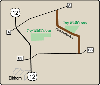Map of Rustic Road 120