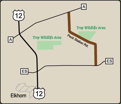 Map of Rustic Road 120