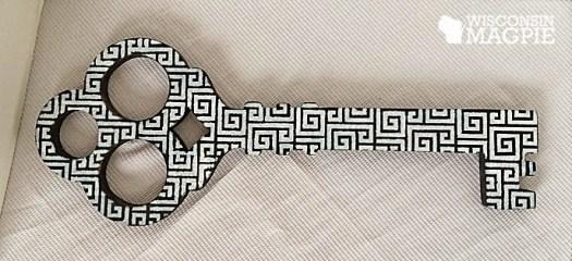 Greek key stencil