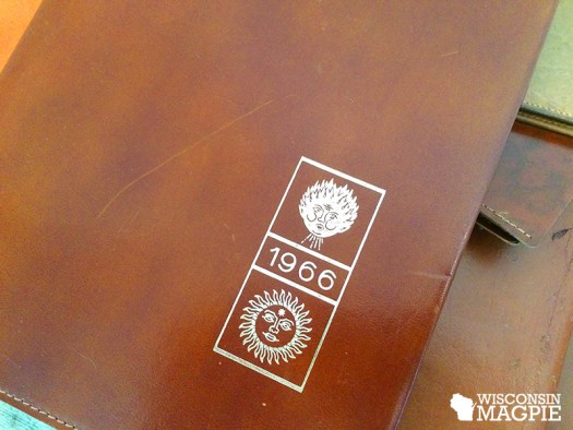 vintage leather calendar