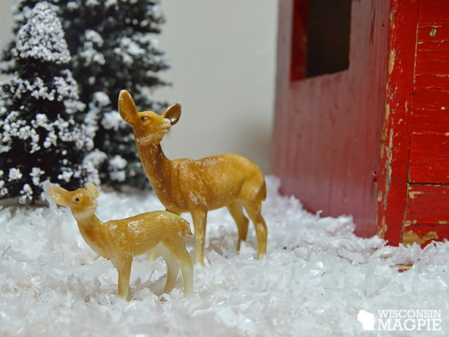 miniature winter farm scene