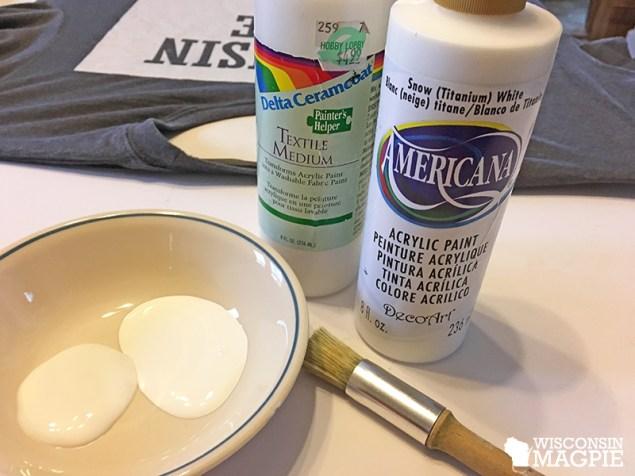 textile medium and acrylic craft paint