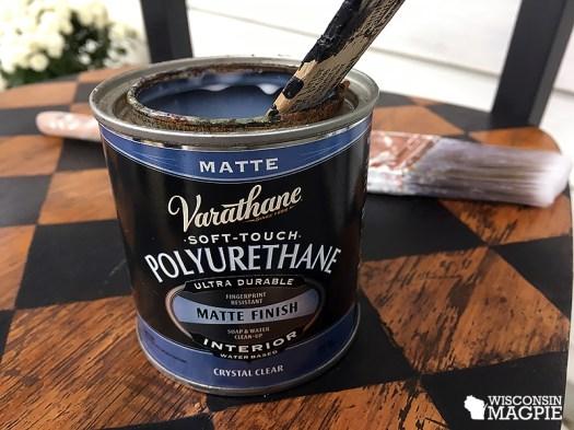 polyurethane over chalk paint