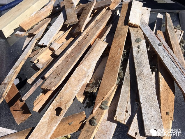 salvaging lath for art piece