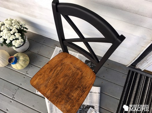 chalk-painted chair