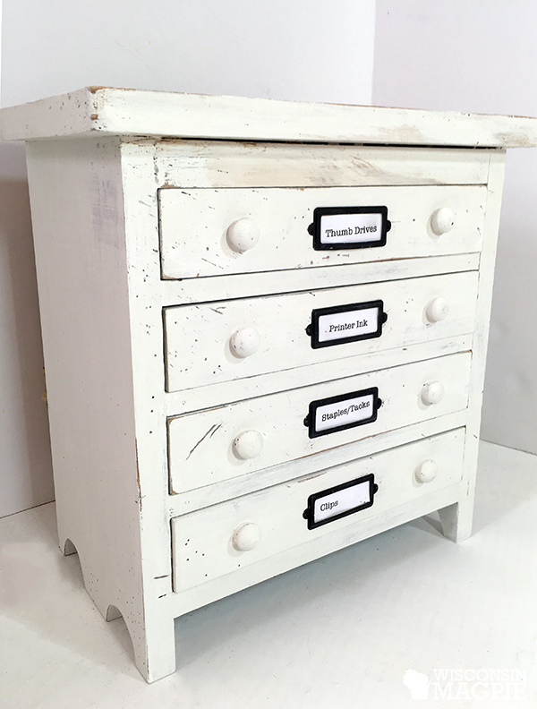 white painted jewelry box