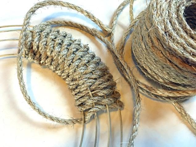 Sisal rope woven wreath