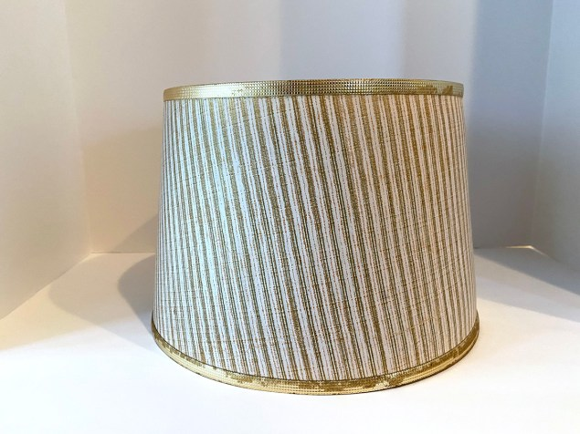 Faded striped drum shade, before the makeover