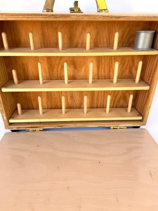 homemade thread storage box