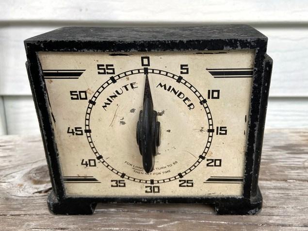Collected castoffs: vintage Minute Minder timer