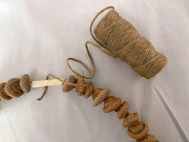 covering the tape with jute twine