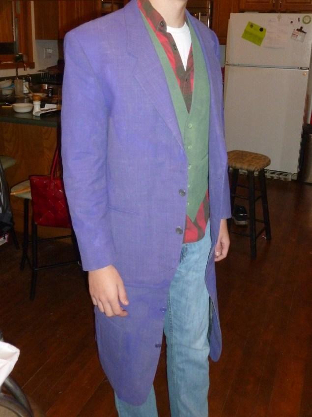 Joker costume fitting