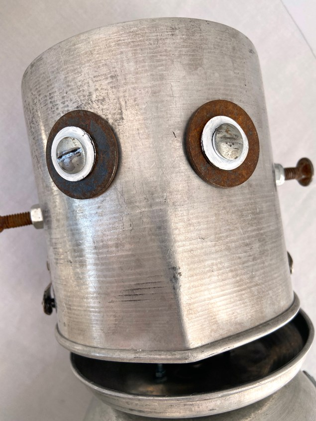 Closeup of Robot Frankenstein's face