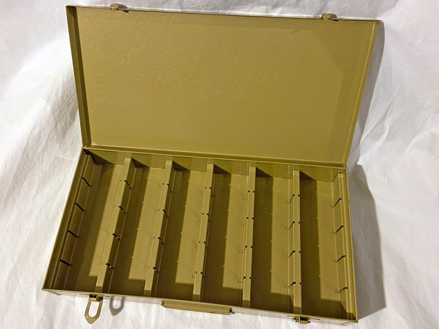 Vintage metal slide case