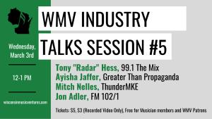 WMV Industry Talks Session #5 @ Online (Via Zoom)