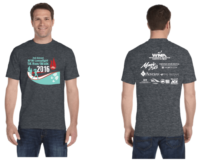2016 5K RunWalk tshirts
