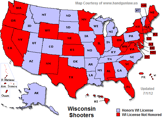 Minnesota Concealed Carry Reciprocity Map