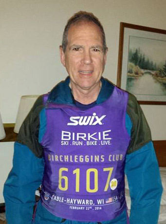 2014 Birchleggings Clubers sported purple bibs with gold writing.