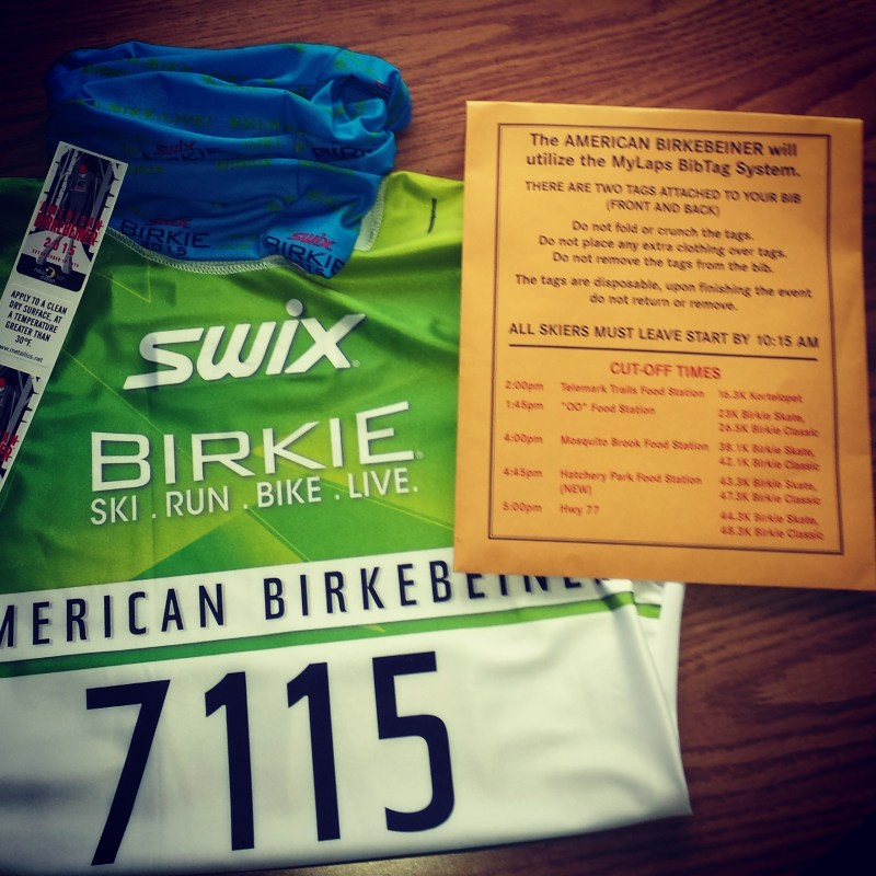 Birkie Bib & Packet