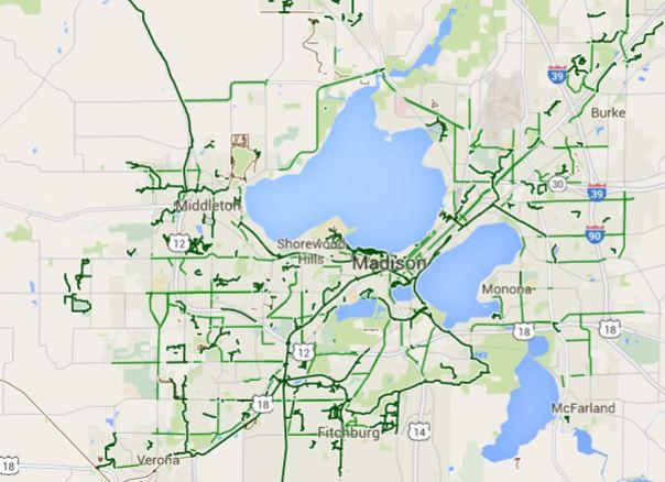 Madison Area Bike Paths