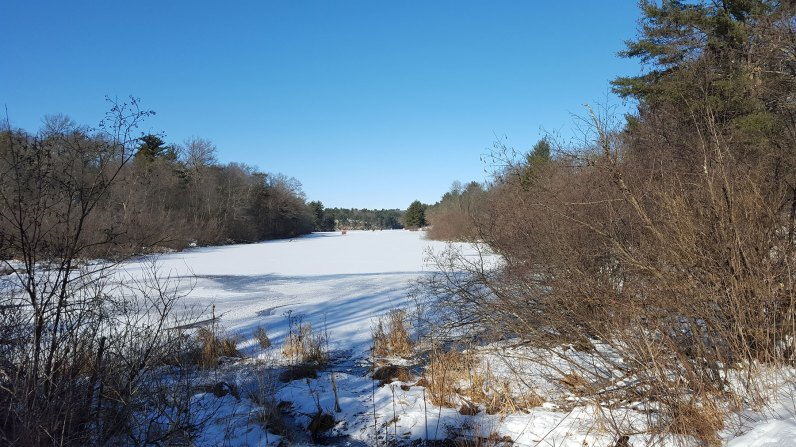Mirror Lake Ice Fishermen