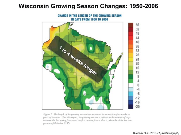 Graphic: Wisconsin growing season changes